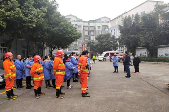 市福利院开展消防演练和知识竞赛