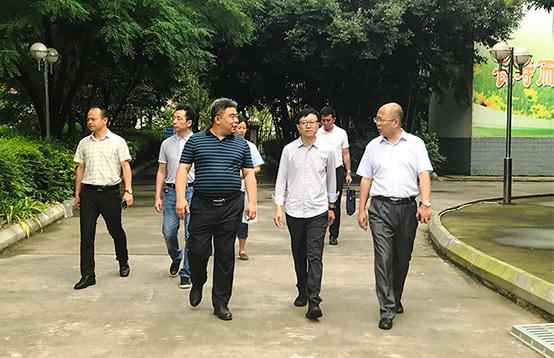 省民政厅卢书记一行到市福利院调研工作